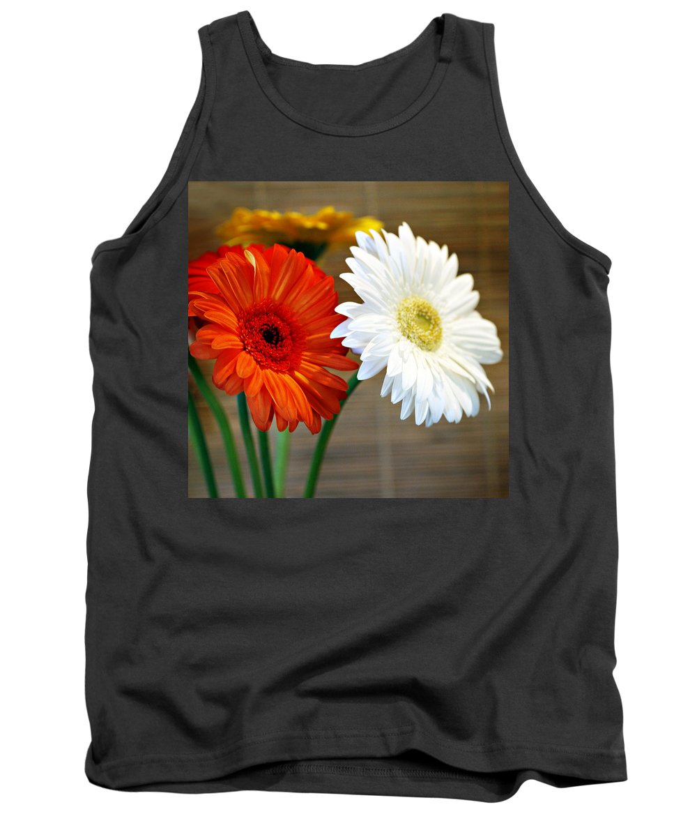 Flower Tank Top featuring the photograph Gerbers by Marilyn Hunt