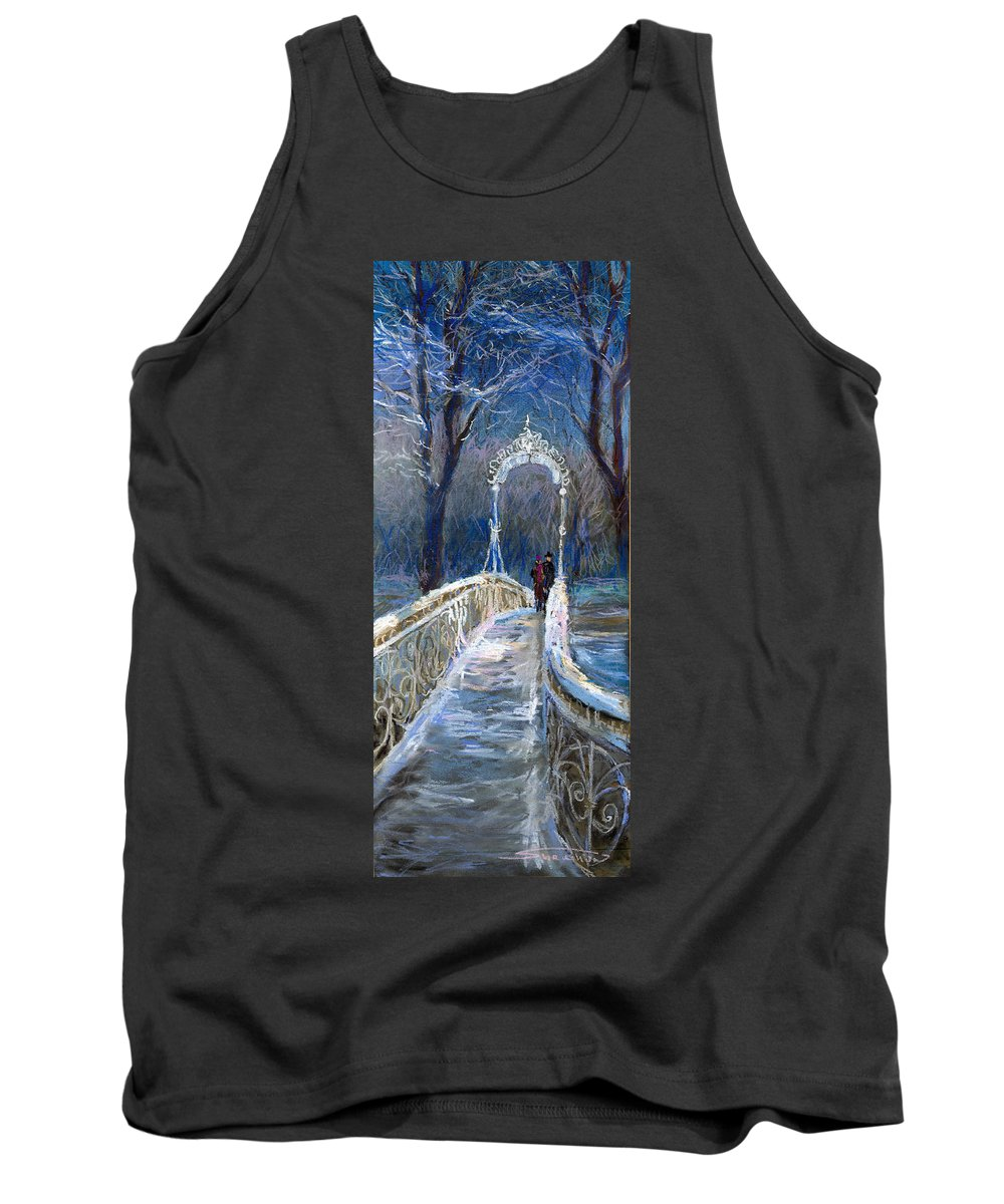 Pastel Tank Top featuring the painting Germany Baden-baden 02 by Yuriy Shevchuk