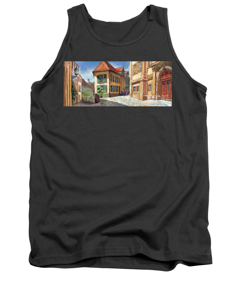 Pastel Tank Top featuring the painting Germany Baden-baden 04 by Yuriy Shevchuk