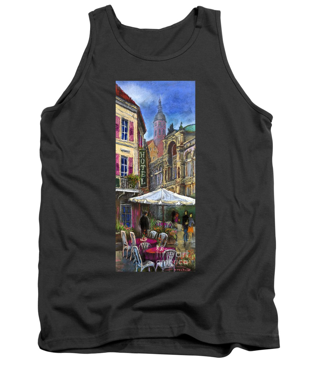 Pastel Tank Top featuring the painting Germany Baden-baden 07 by Yuriy Shevchuk