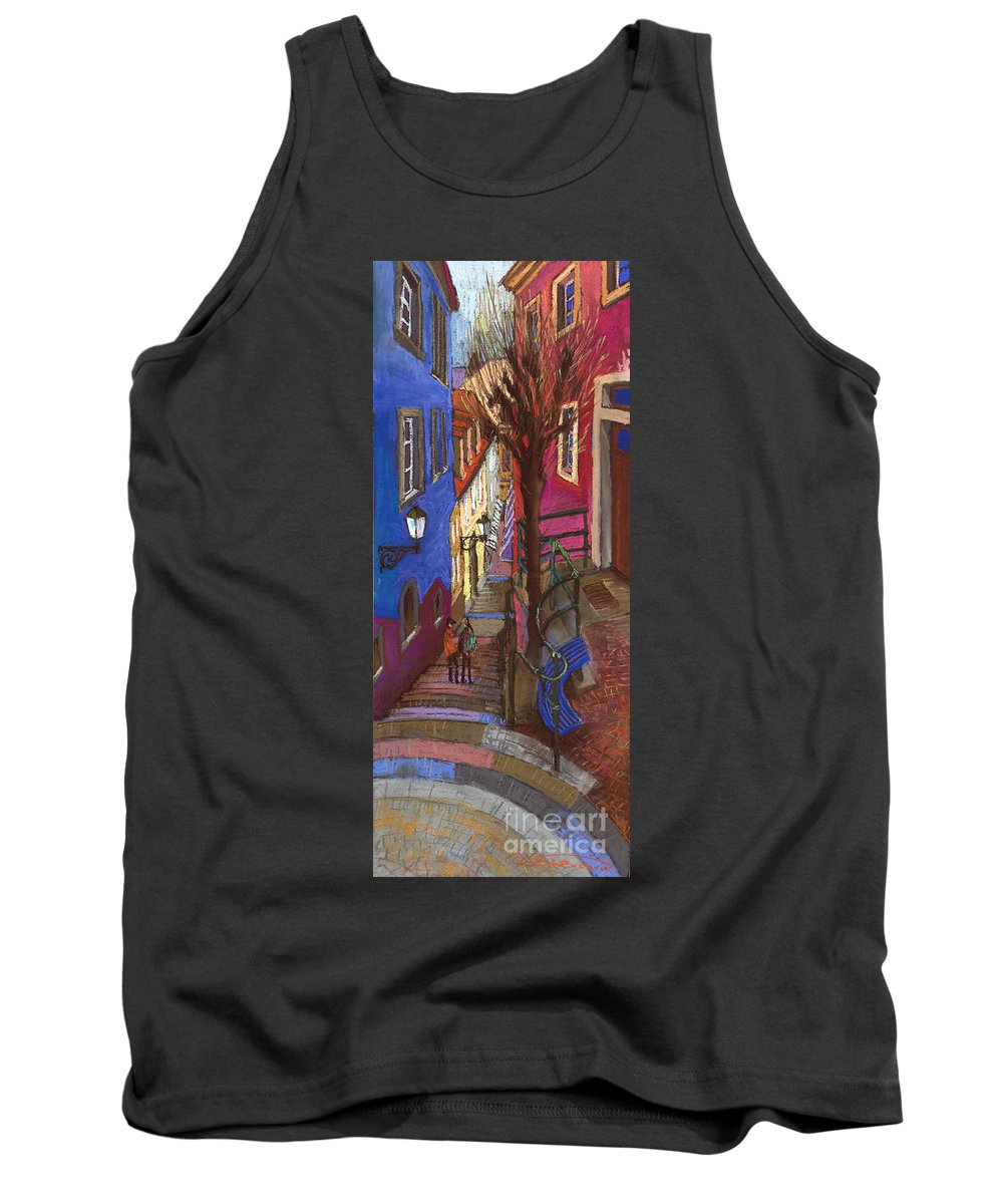 Pastel Tank Top featuring the painting Germany Baden-baden 08 by Yuriy Shevchuk