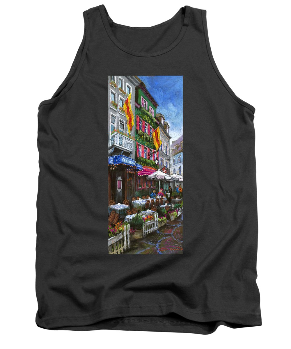 Pastel Tank Top featuring the painting Germany Baden-baden 10 by Yuriy Shevchuk
