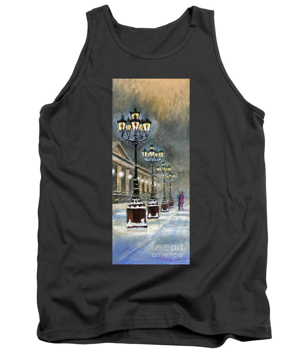 Pastel Tank Top featuring the painting Germany Baden-baden Kurhaus by Yuriy Shevchuk