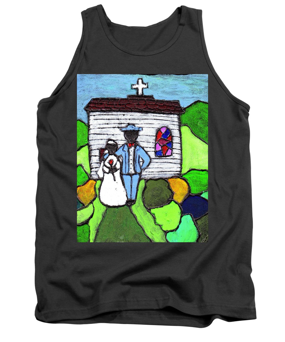 Folk Art Tank Top featuring the painting Getting Married Today by Wayne Potrafka