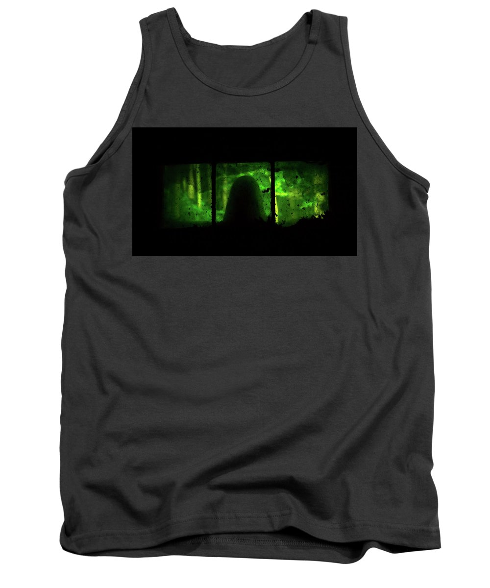 Ghost Tank Top featuring the photograph Ghost In The Window No. 2 by Paul Thompson