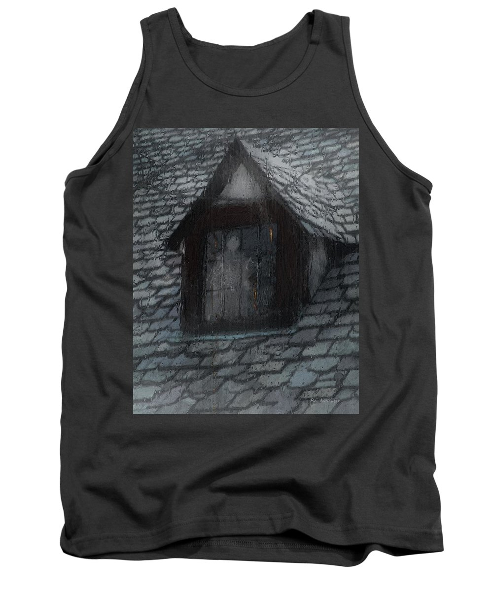 Ghost Tank Top featuring the painting Ghost Rain by RC deWinter