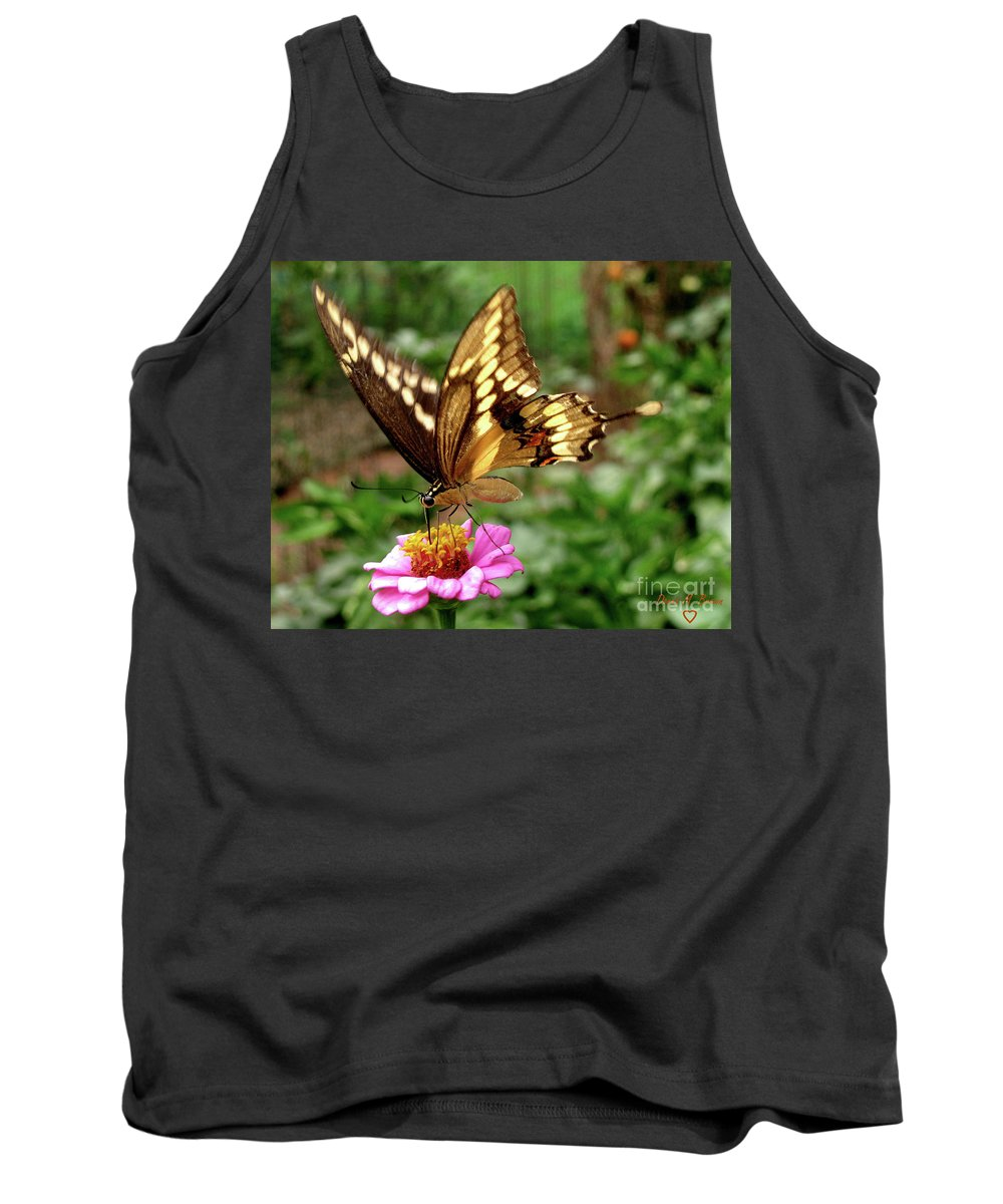 Butterfly Tank Top featuring the photograph Giant Swallowtail Butterfly by Donna Brown