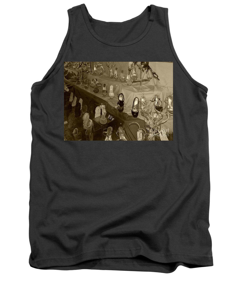 Shoes Tank Top featuring the photograph Girl Cant Have Enough Shoes by Debbi Granruth
