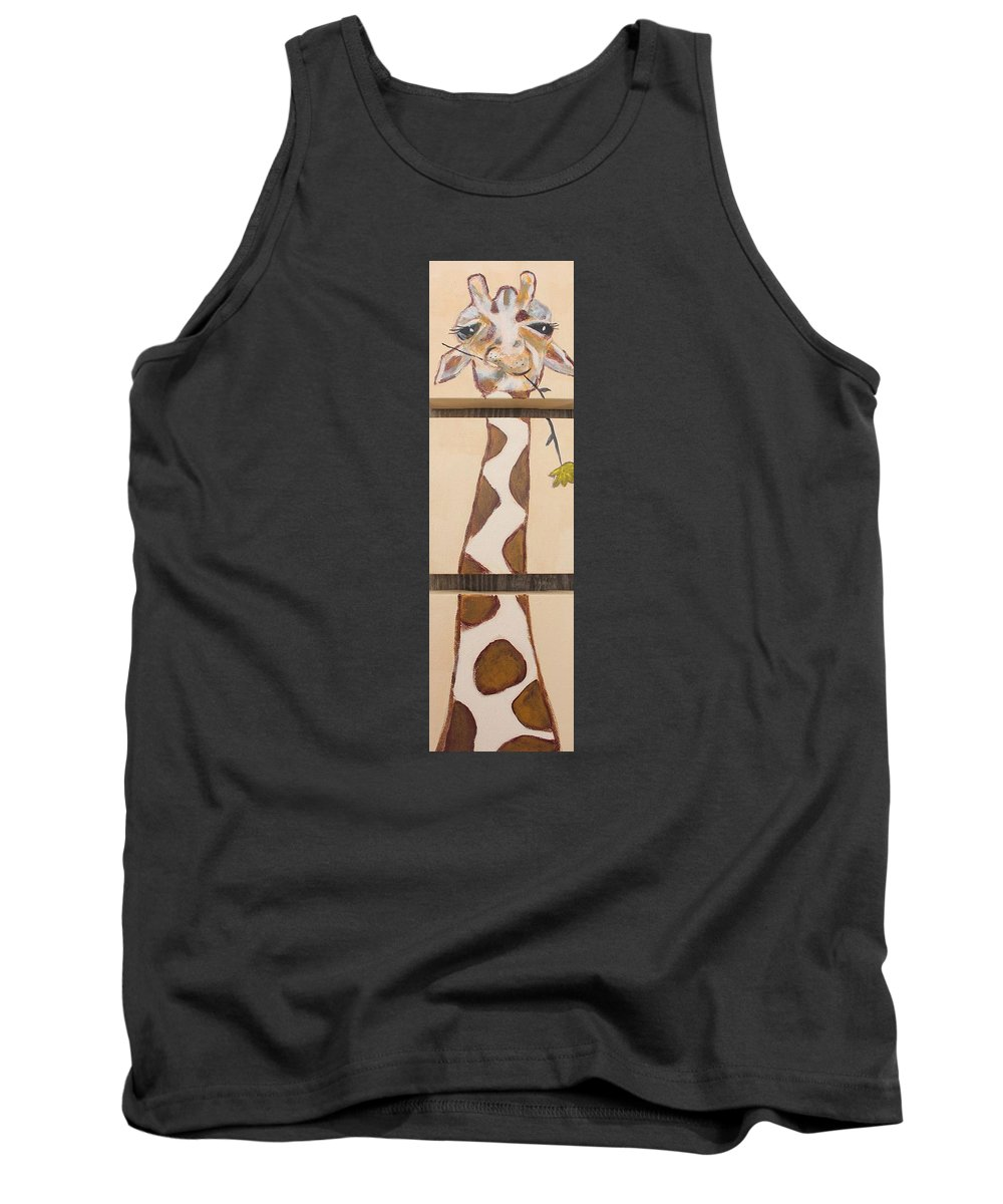 Girraffe Tank Top featuring the painting Giraffe by Jennifer Whitworth