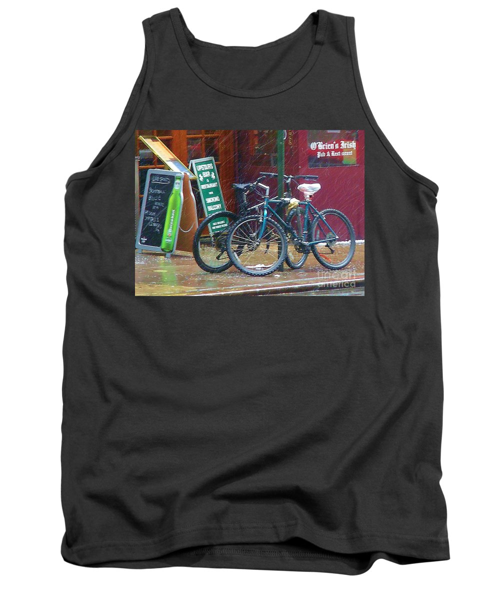 Bike Tank Top featuring the photograph Give Me Shelter by Debbi Granruth
