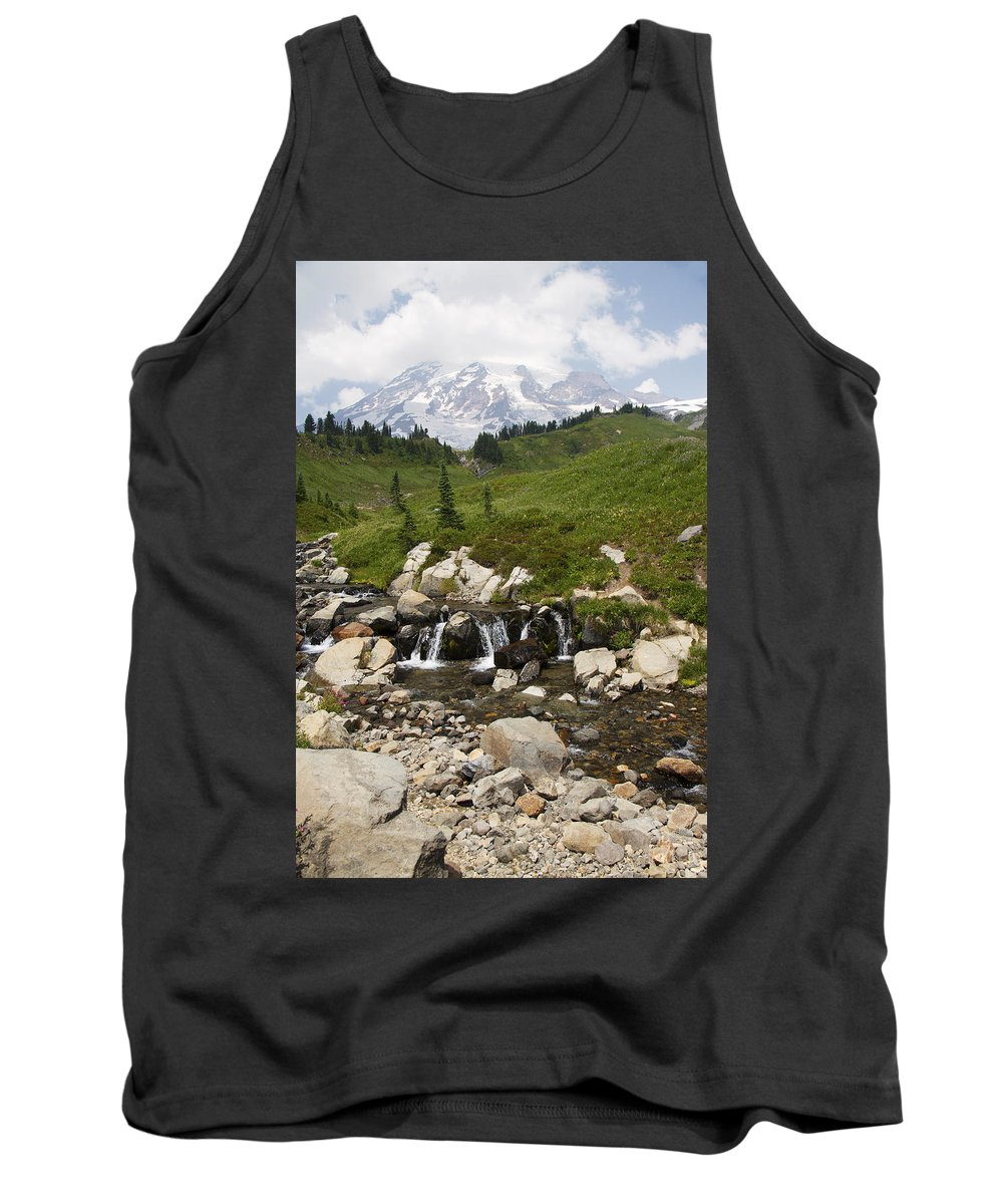 Glacier Tank Top featuring the photograph Glacial Runoff by Debby Richards