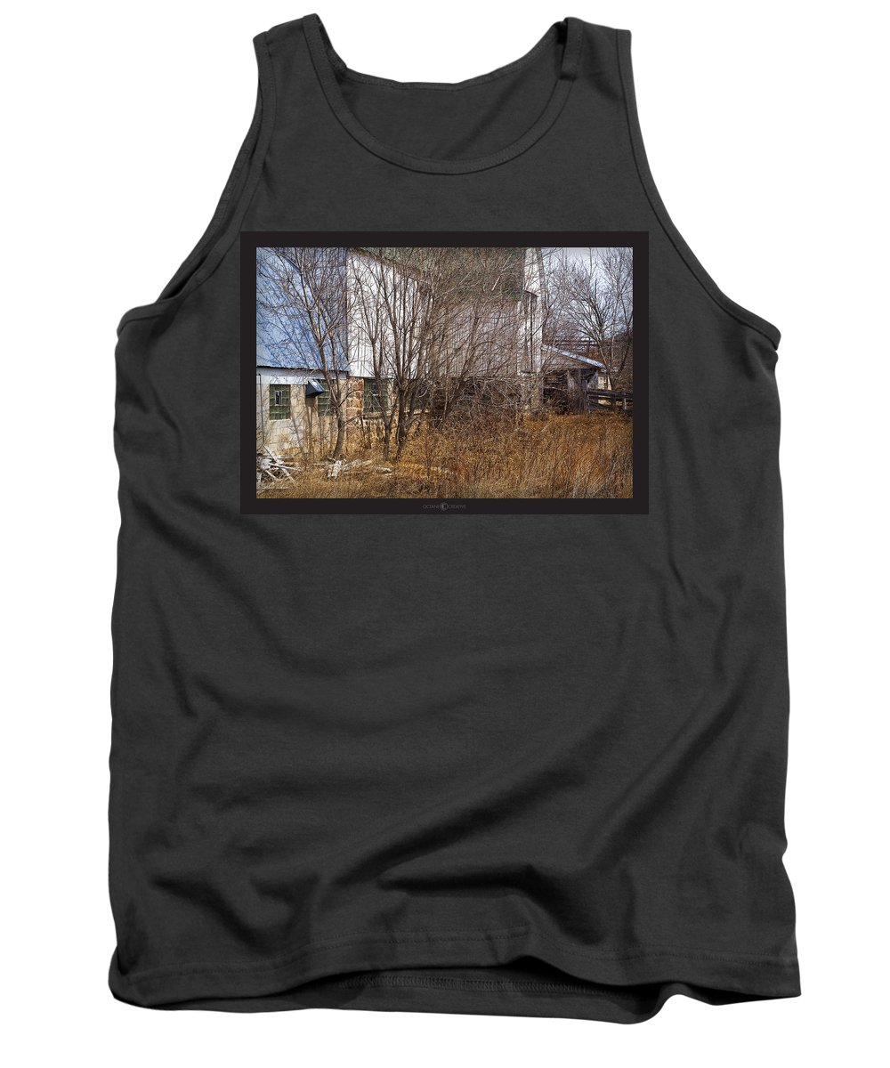 Barn Tank Top featuring the photograph Glass Block by Tim Nyberg