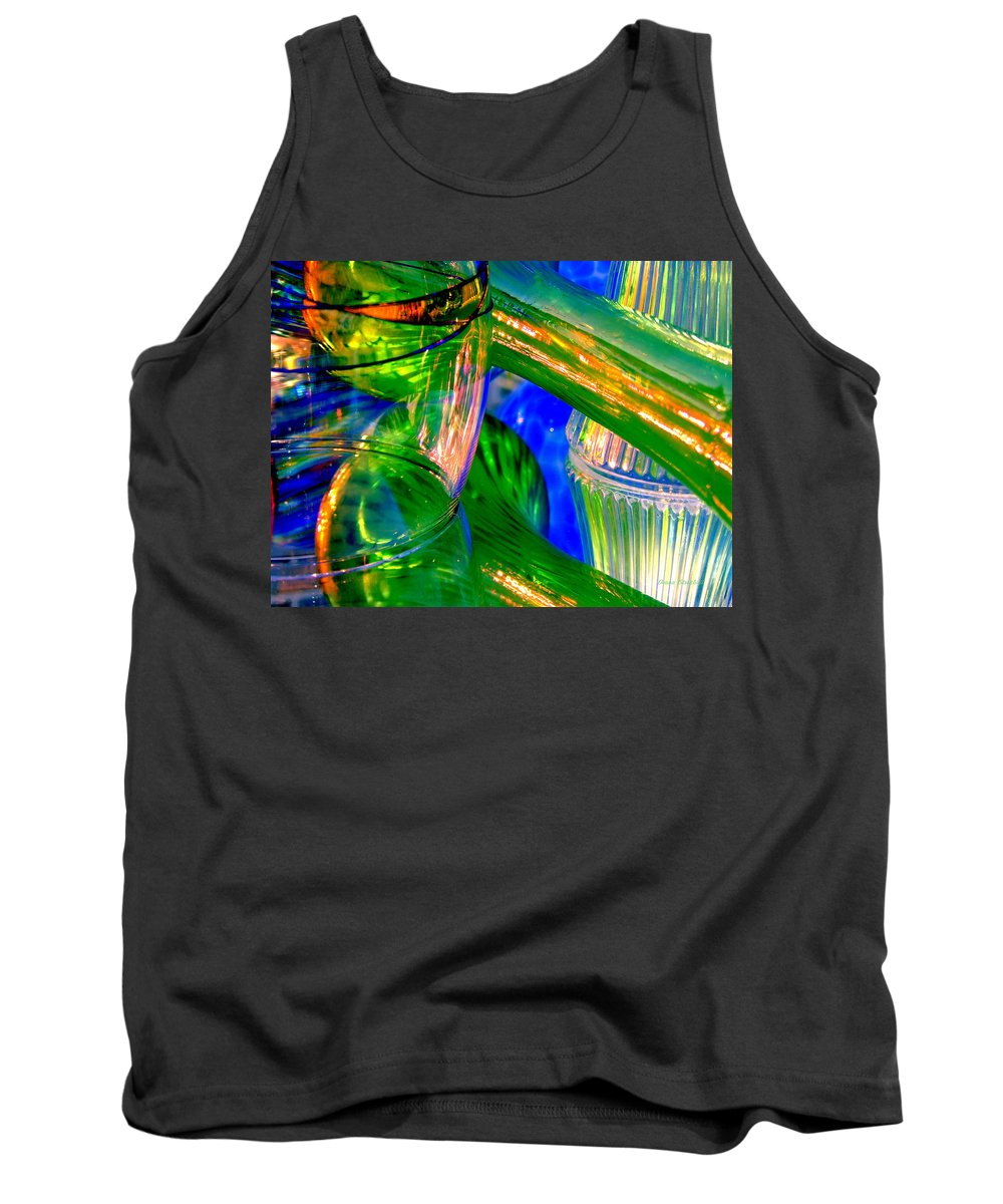 Glass Tank Top featuring the photograph Glass Menagerie by Donna Blackhall