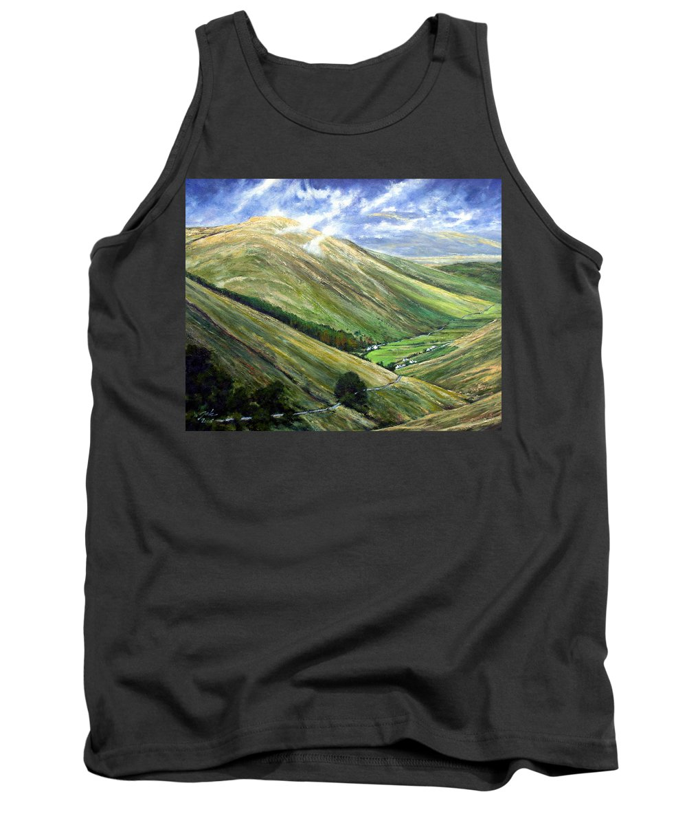 Landscapes Tank Top featuring the painting Glen Gesh Ireland by Jim Gola