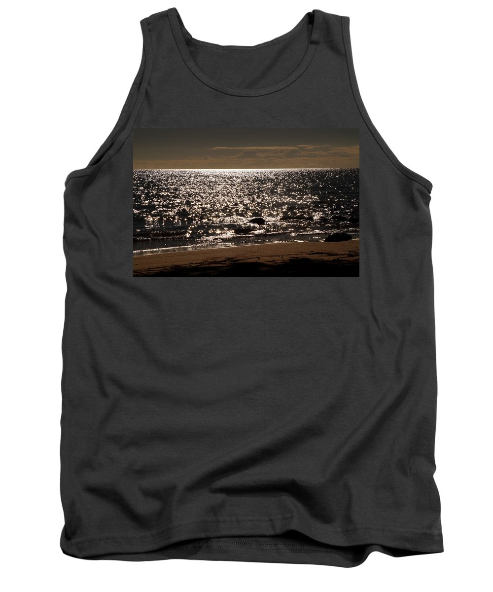 Glisten Tank Top featuring the photograph Glistening On The Water by Pamela Walton