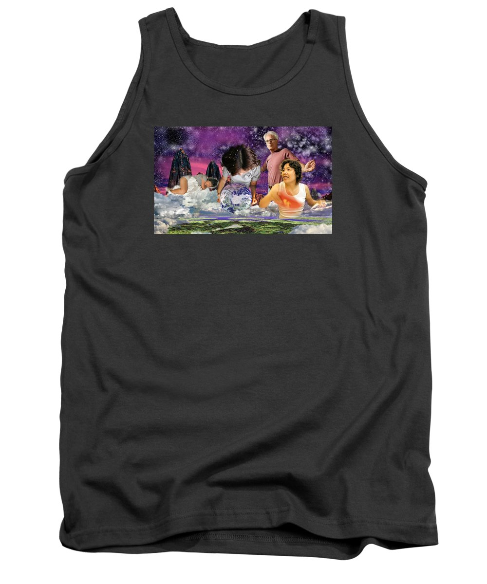 Landscape Tank Top featuring the digital art Global Dreaming by Dave Martsolf