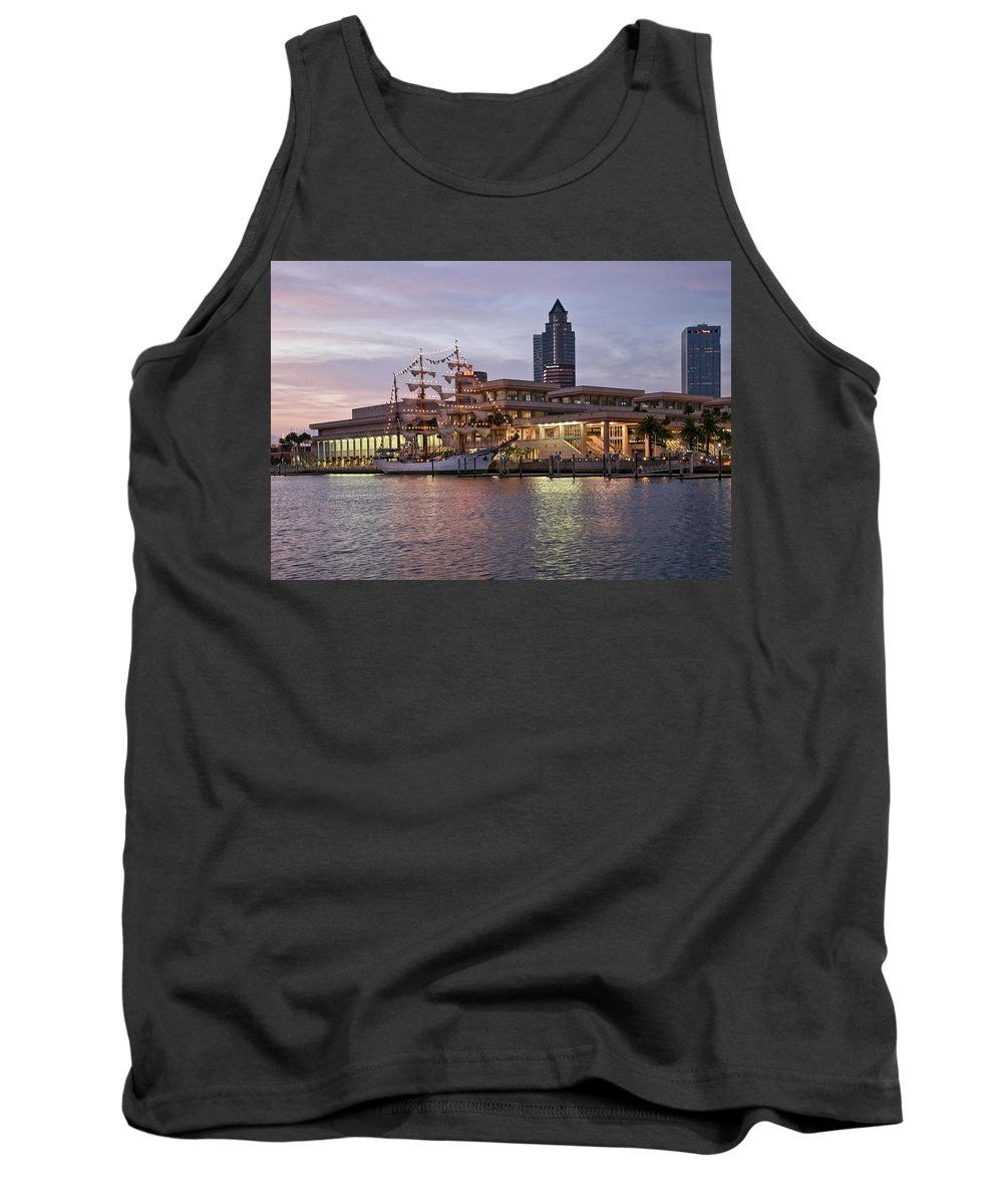 Arc Gloria Tank Top featuring the photograph Gloria Visiting Tampa by Steven Sparks