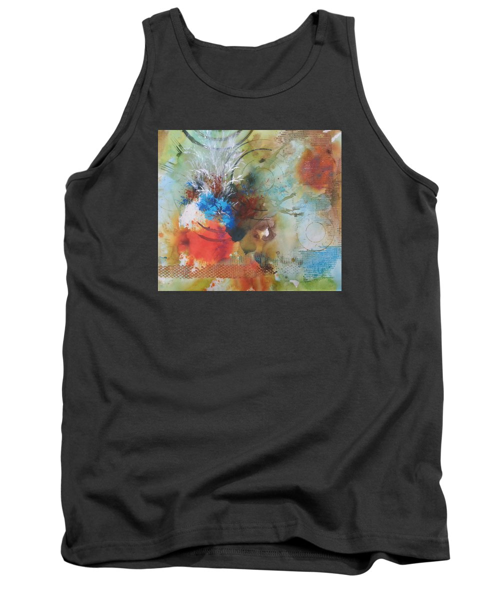 Abstract Tank Top featuring the painting Glorious by Becky Chappell