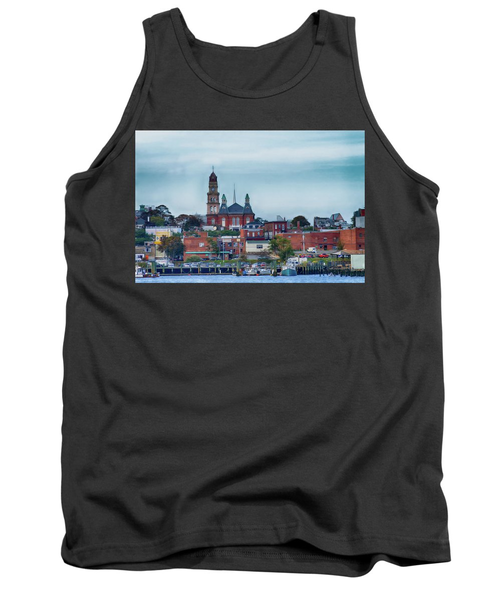 Gloucester Tank Top featuring the photograph Gloucester Harbour by Tom Gari Gallery-Three-Photography