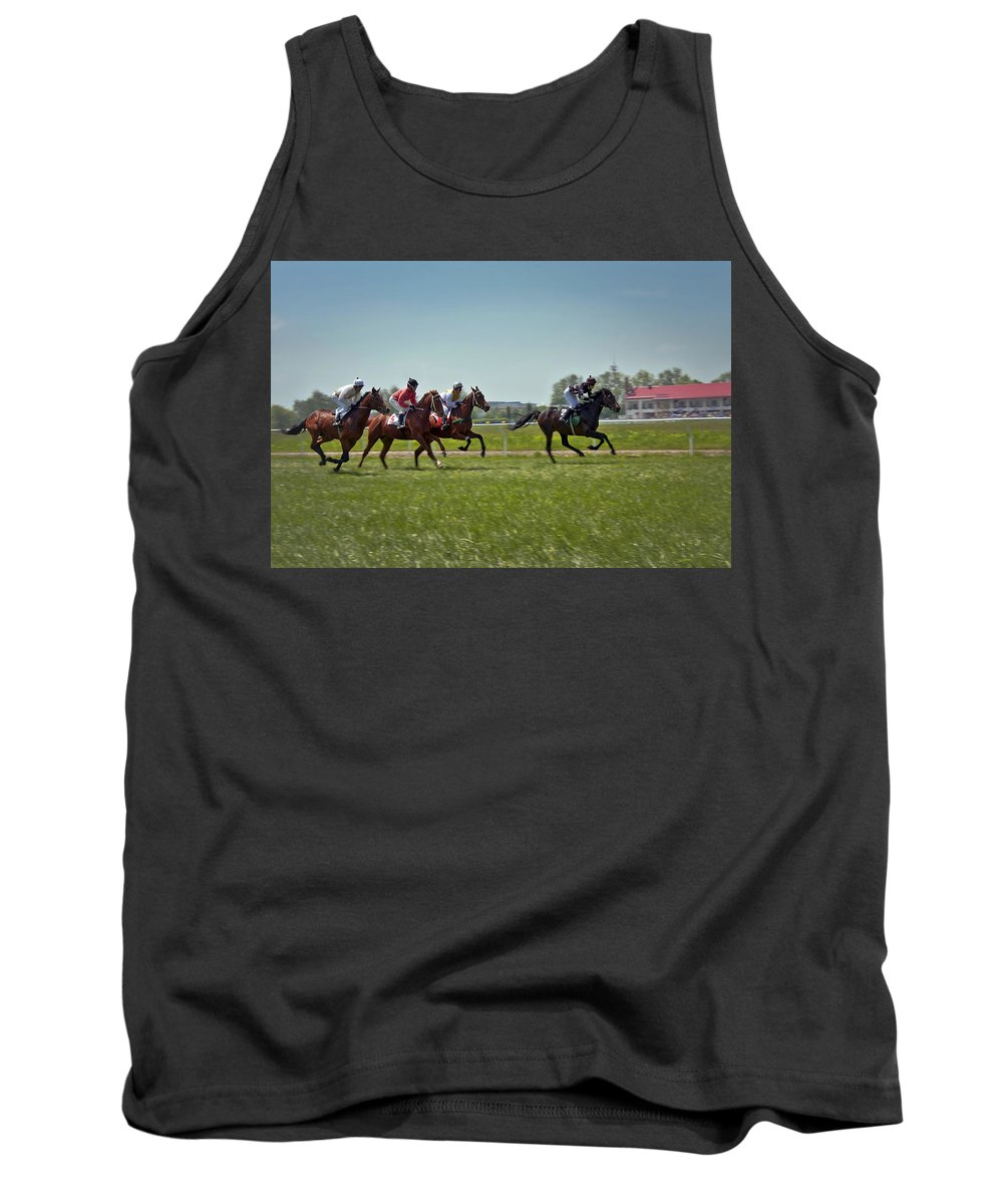 Animal Tank Top featuring the photograph Go Baby Go by Evelina Kremsdorf