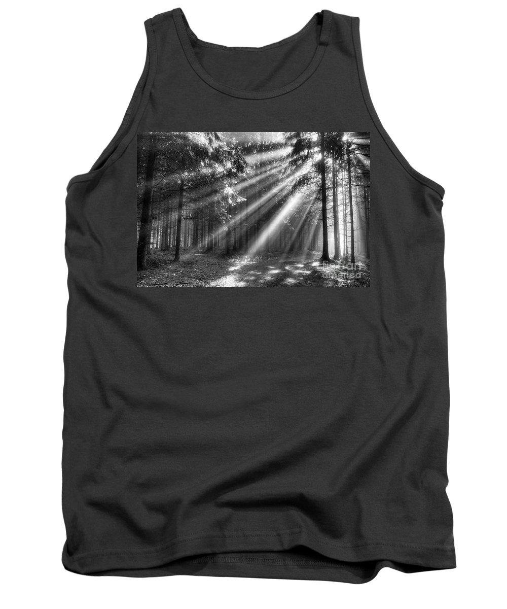 God Beams Tank Top featuring the photograph God Beams by Michal Boubin