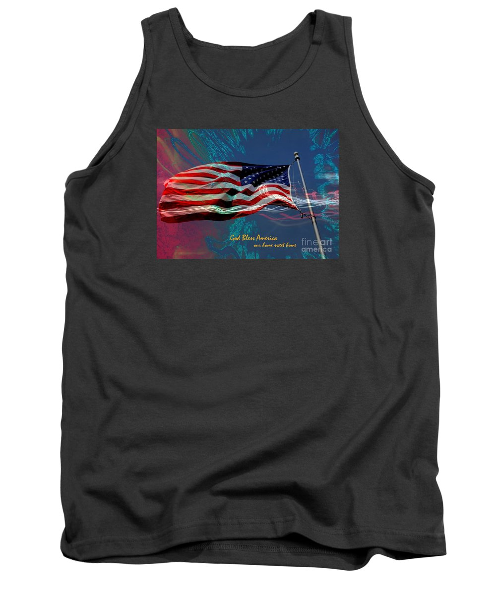 Patriotic Tank Top featuring the photograph God Bless 2 by Rick Rauzi