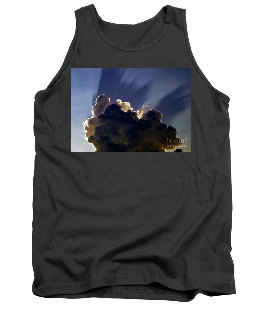 God Tank Top featuring the painting God Speaking by David Lee Thompson