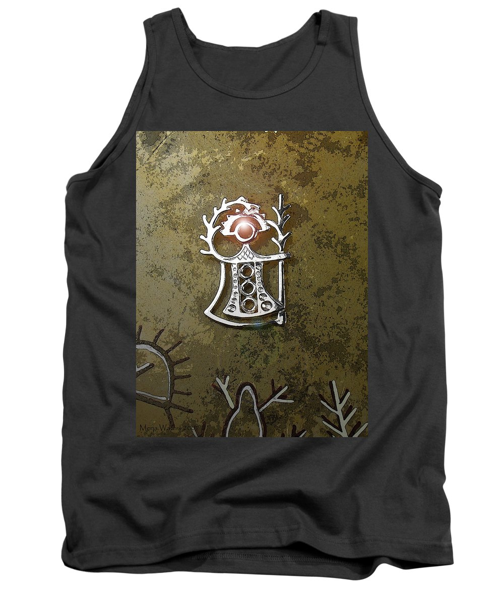 Goddess Tank Top featuring the digital art Goddess Of Fertility by Merja Waters
