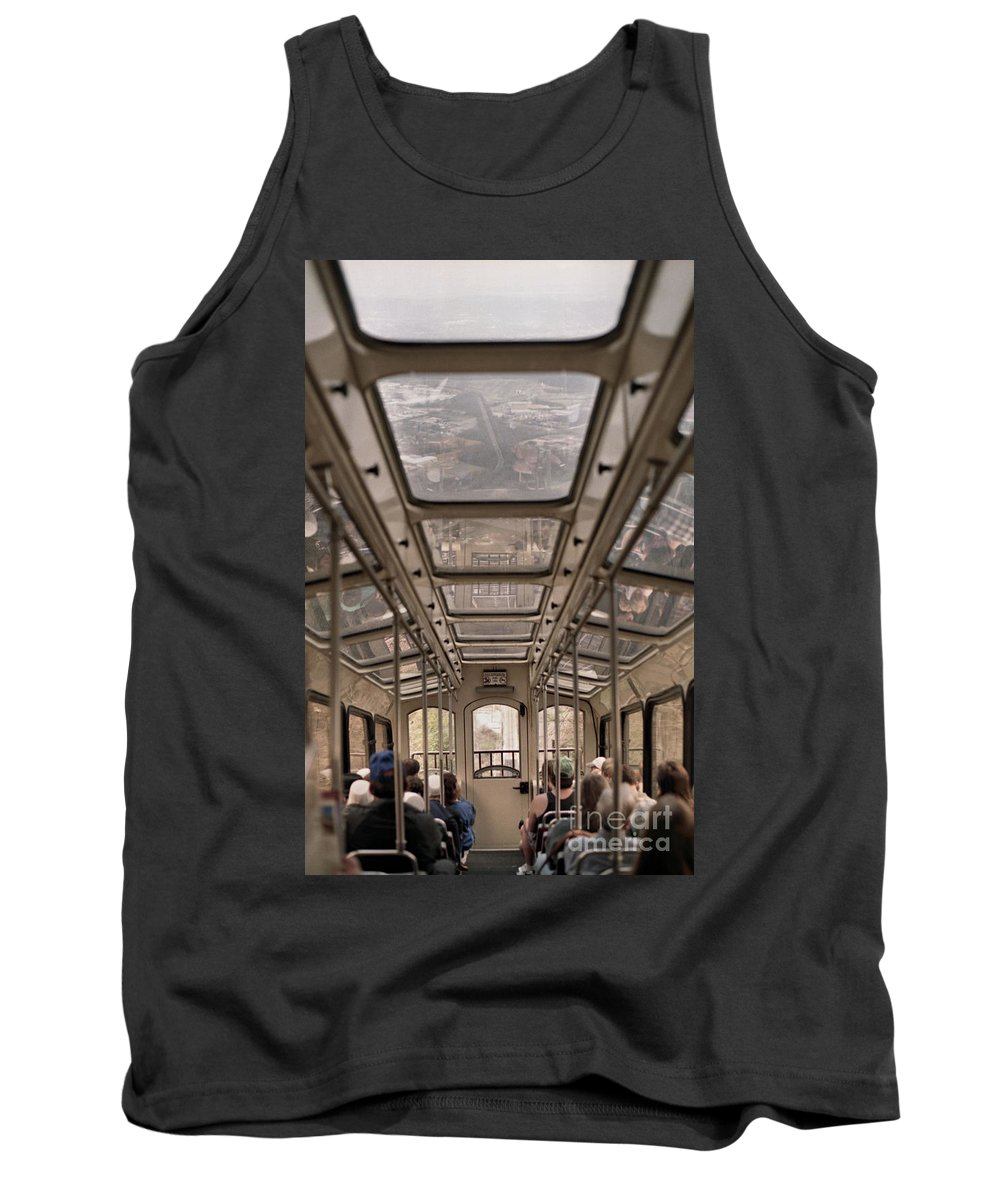 Cable Car Tank Top featuring the photograph Going Down by Richard Rizzo