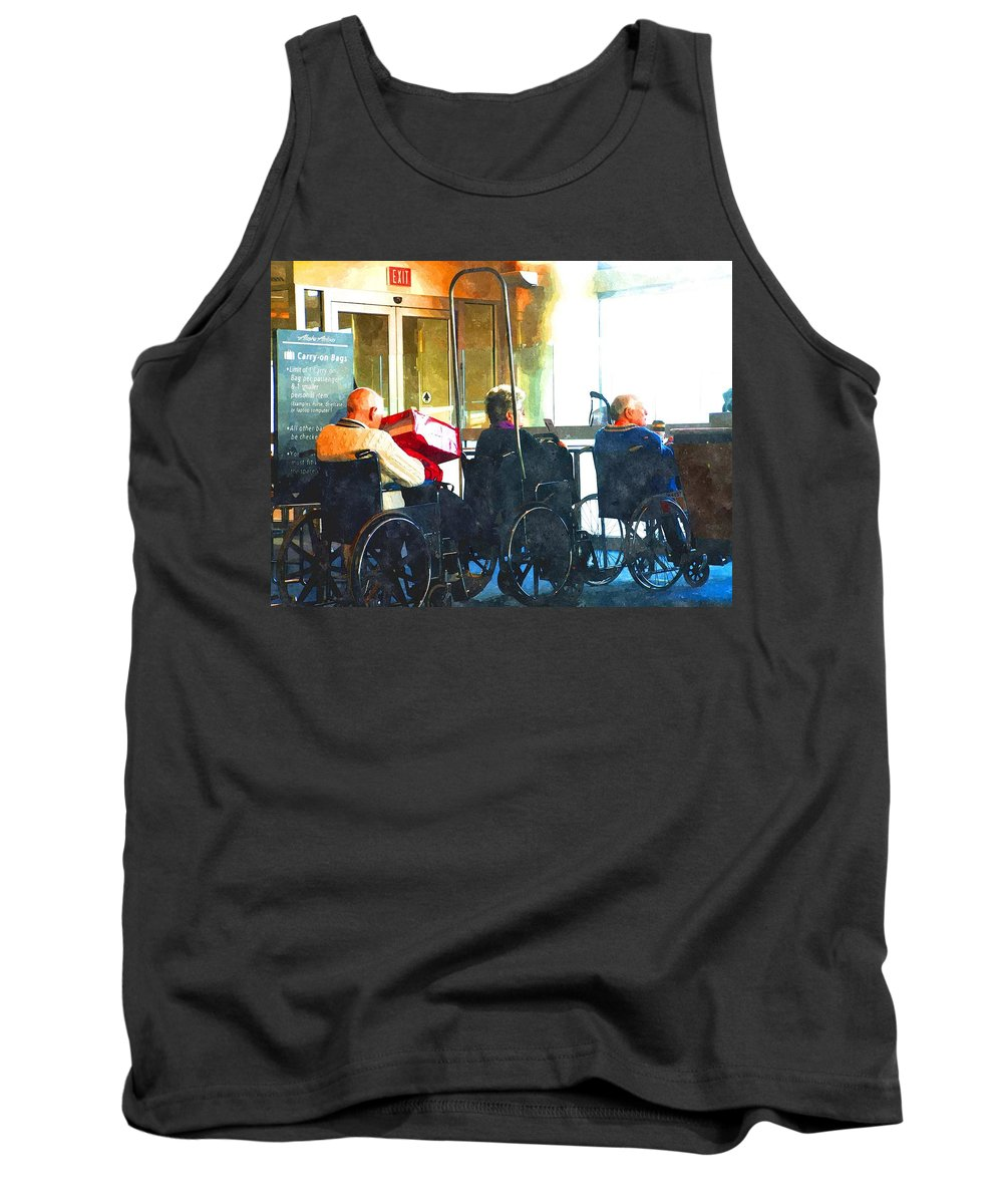 Airport Tank Top featuring the photograph Going Home To Loved Ones by Image Takers Photography LLC - Carol Haddon