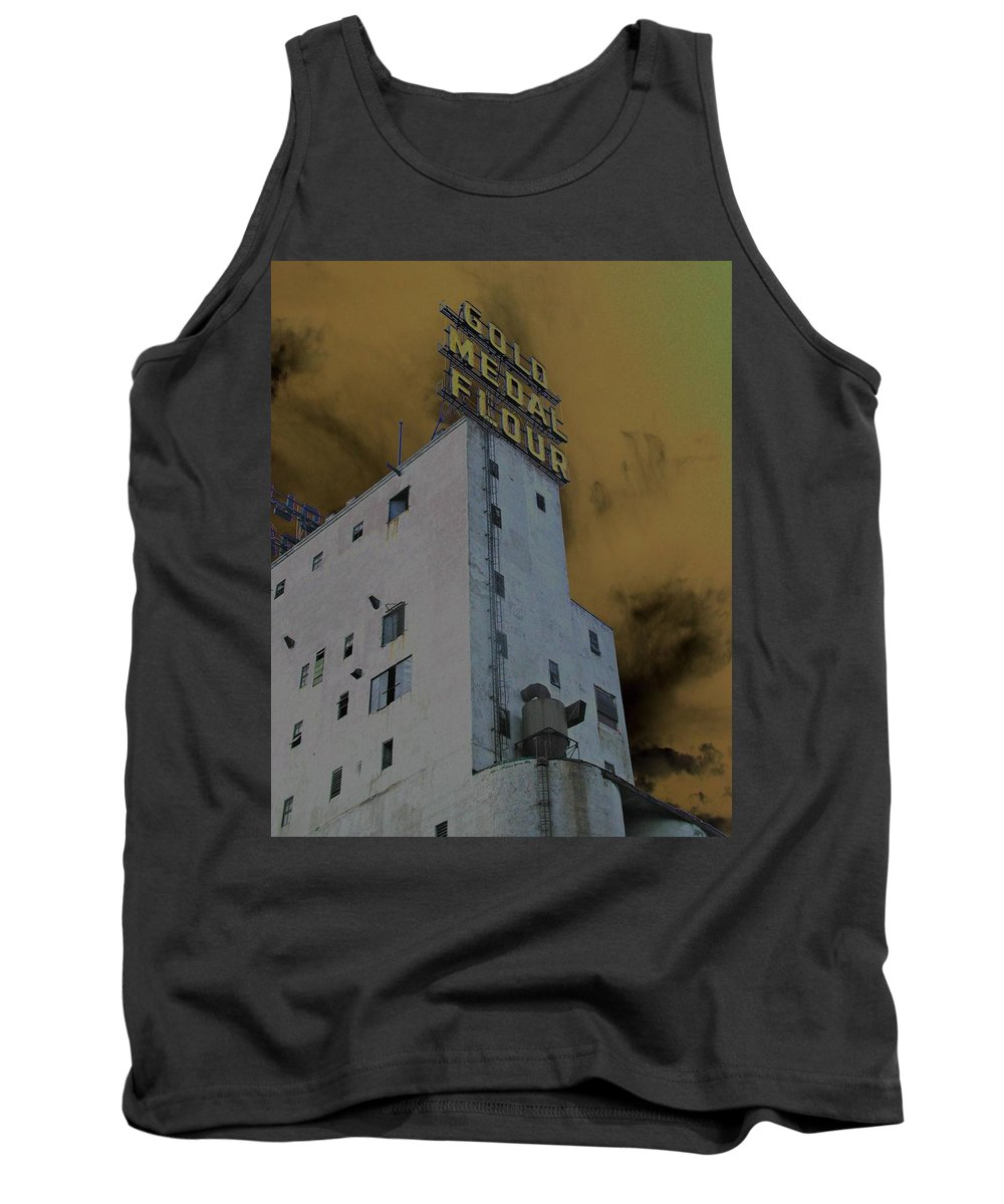 Minneapolis Tank Top featuring the photograph Gold Medal Flour by Tom Reynen