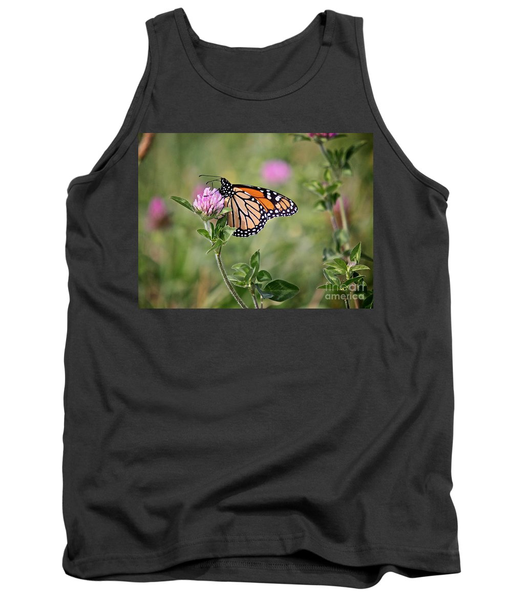 Insect Tank Top featuring the photograph Gold Wings by Robert Pearson