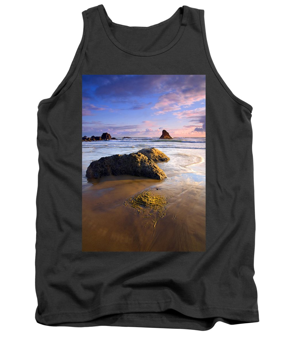 Beach Tank Top featuring the photograph Golden Coast by Mike Dawson