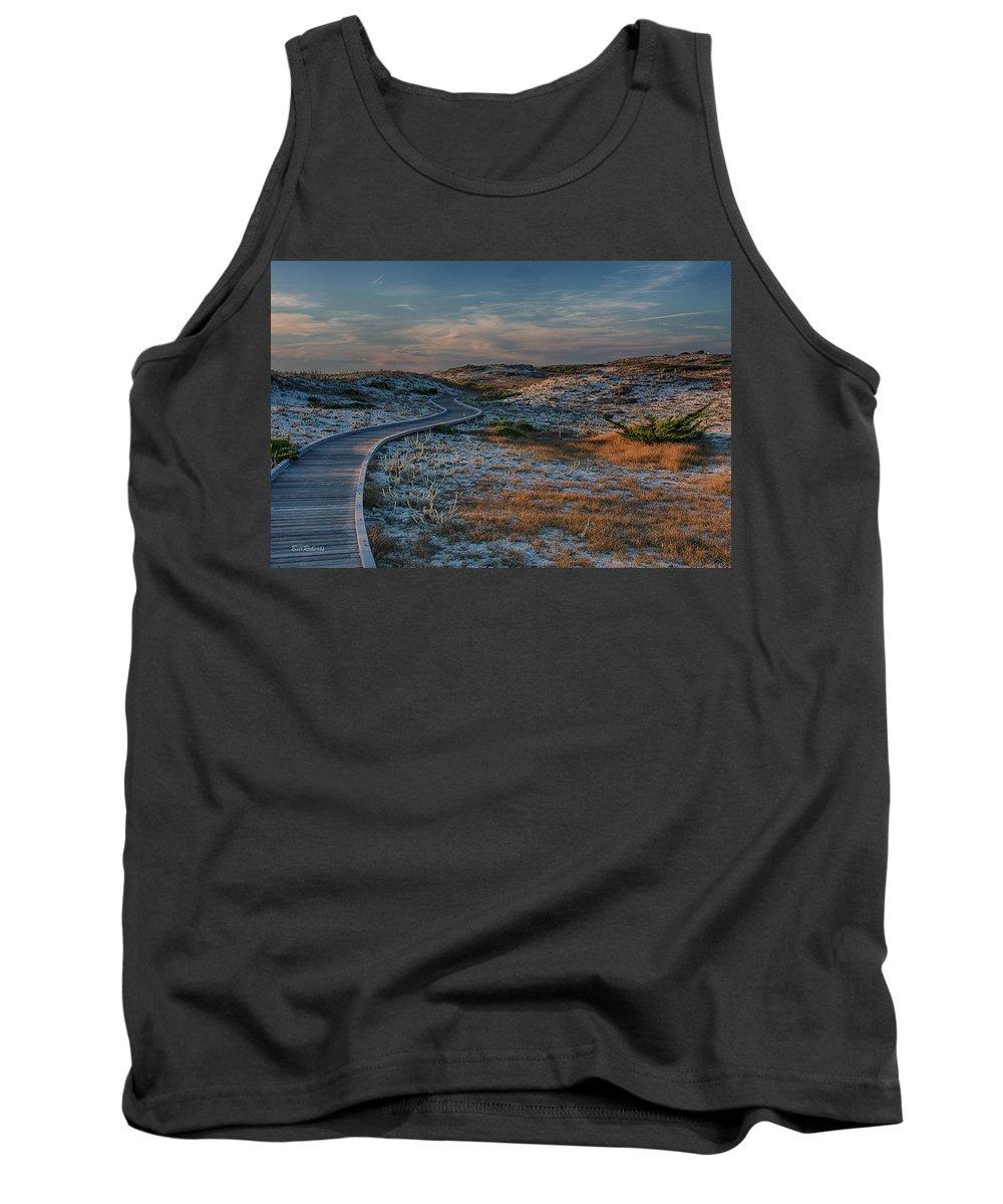 Asilomar Tank Top featuring the photograph Golden Dunes by Bill Roberts