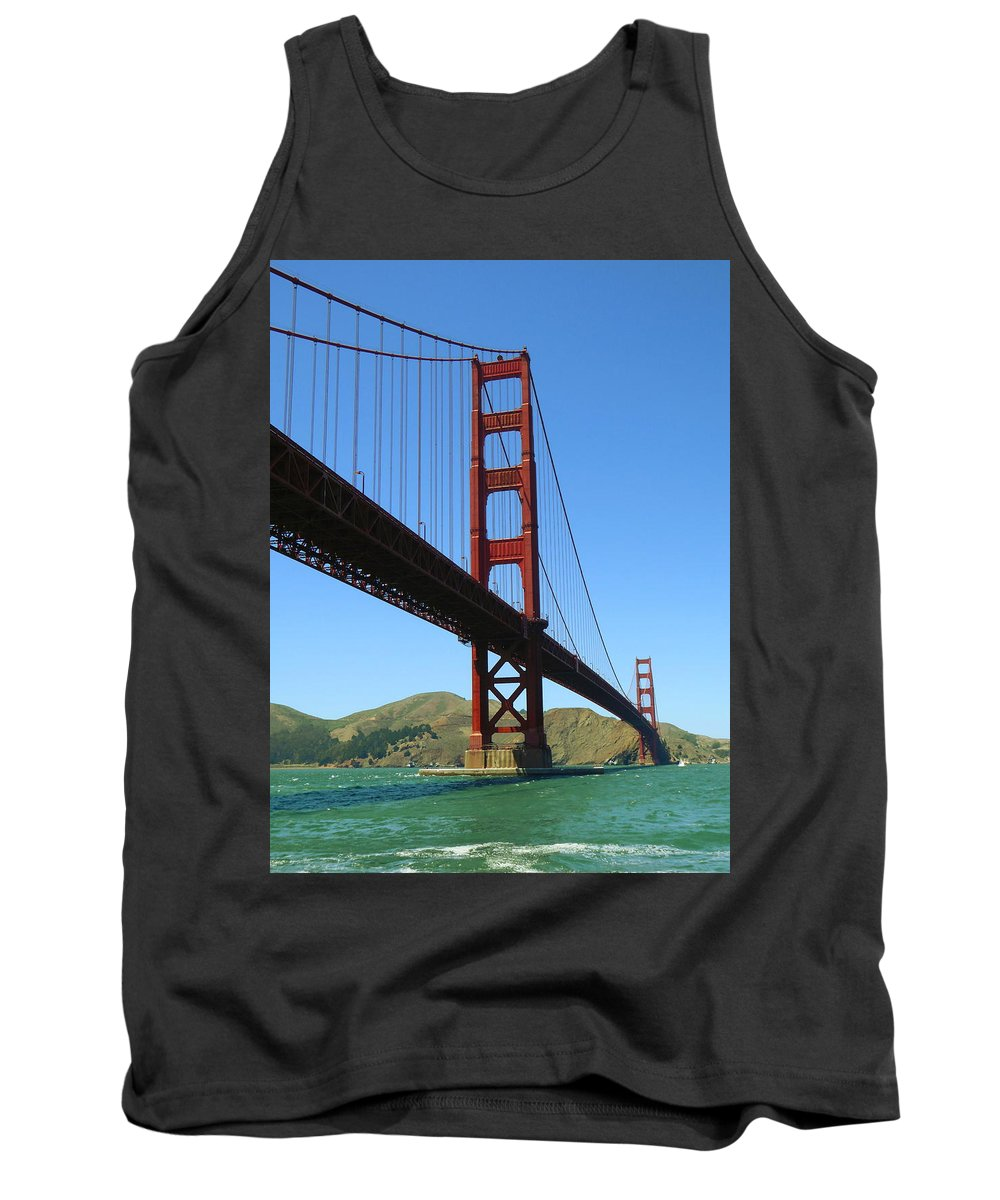 San+francisco Tank Top featuring the photograph Golden Gate Bridge San Francisco by Peter Potter