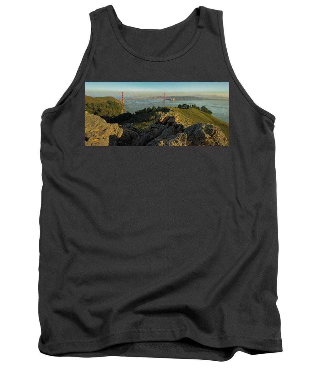 Bridge Tank Top featuring the photograph Golden Gate by Seth Churchill