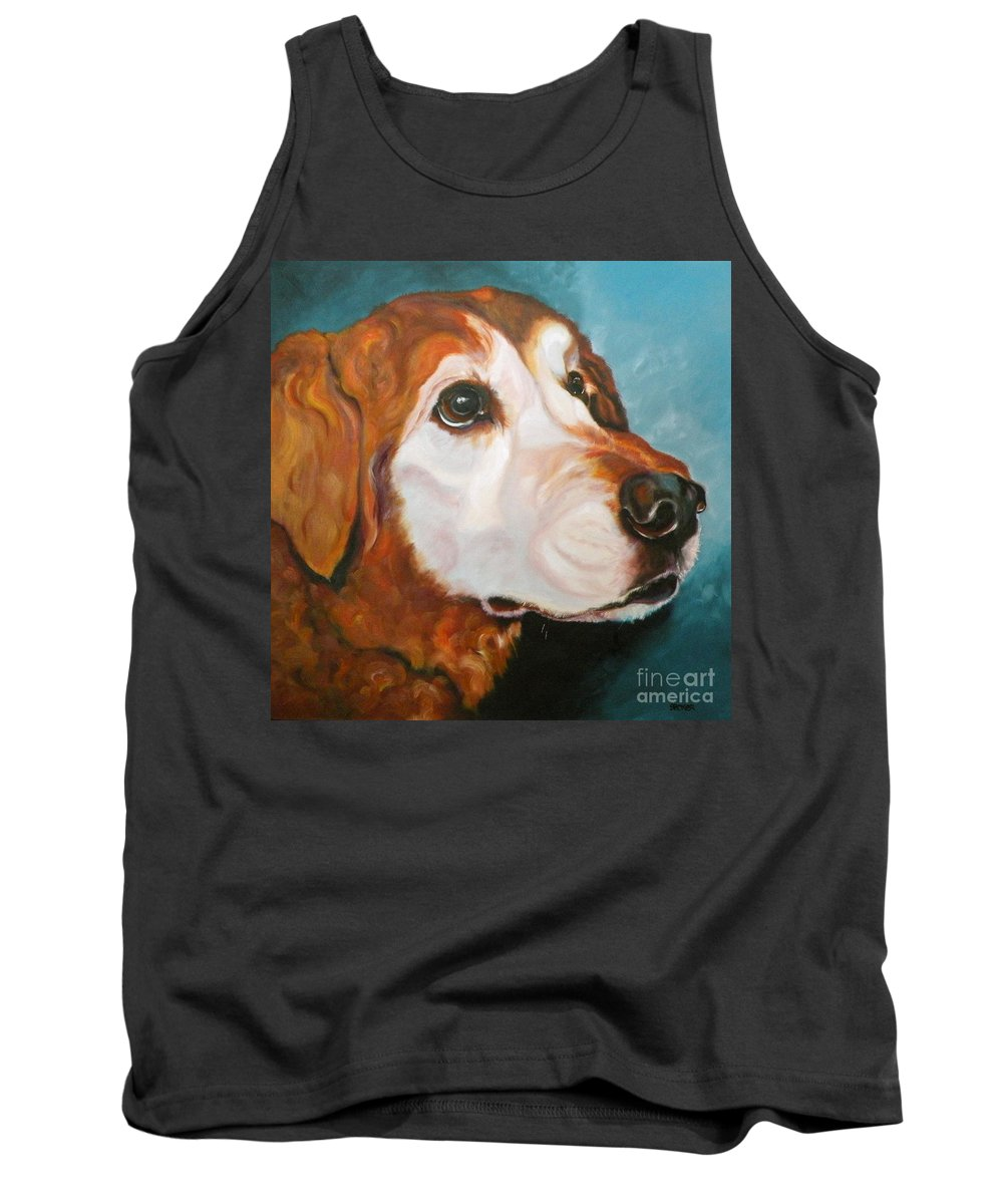 Dogs Tank Top featuring the painting Golden Grandpa by Susan A Becker