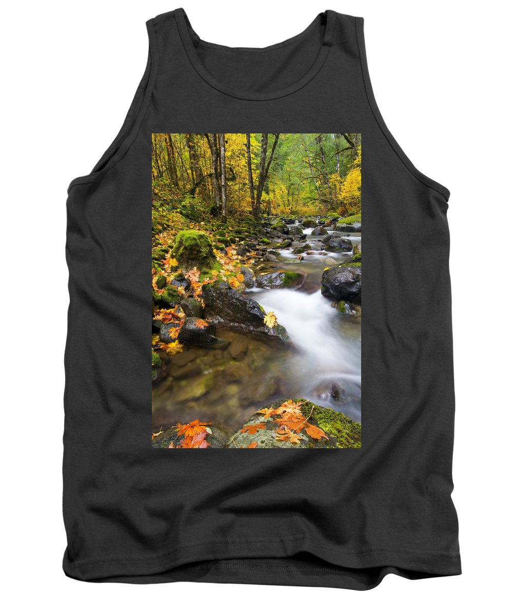 Fall Tank Top featuring the photograph Golden Grove by Mike Dawson