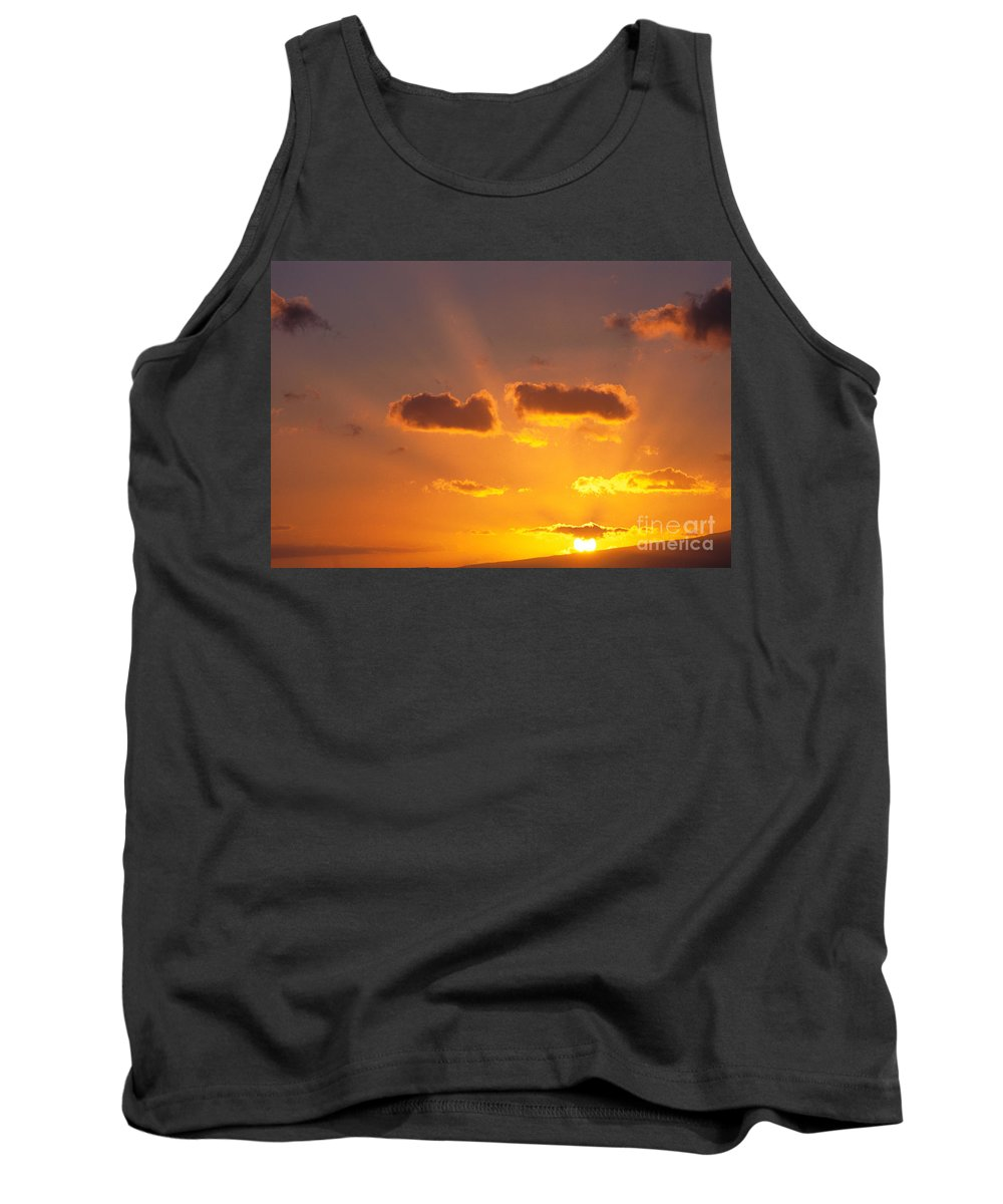 C1726 Tank Top featuring the photograph Golden Sunset by Carl Shaneff - Printscapes