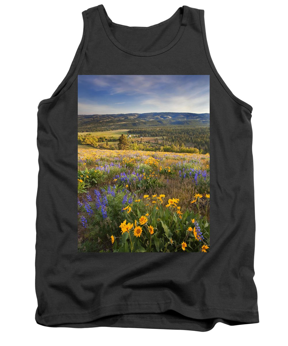 Wildflowers Tank Top featuring the photograph Golden Valley by Mike Dawson