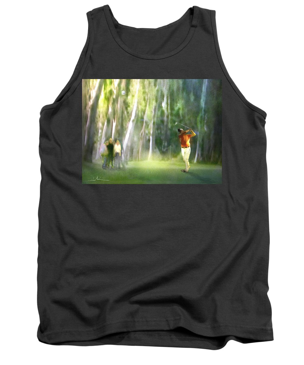 Golf Tank Top featuring the painting Golf Trophee Hassan II In Royal Golf Dar Es Salam Morocco 01 by Miki De Goodaboom