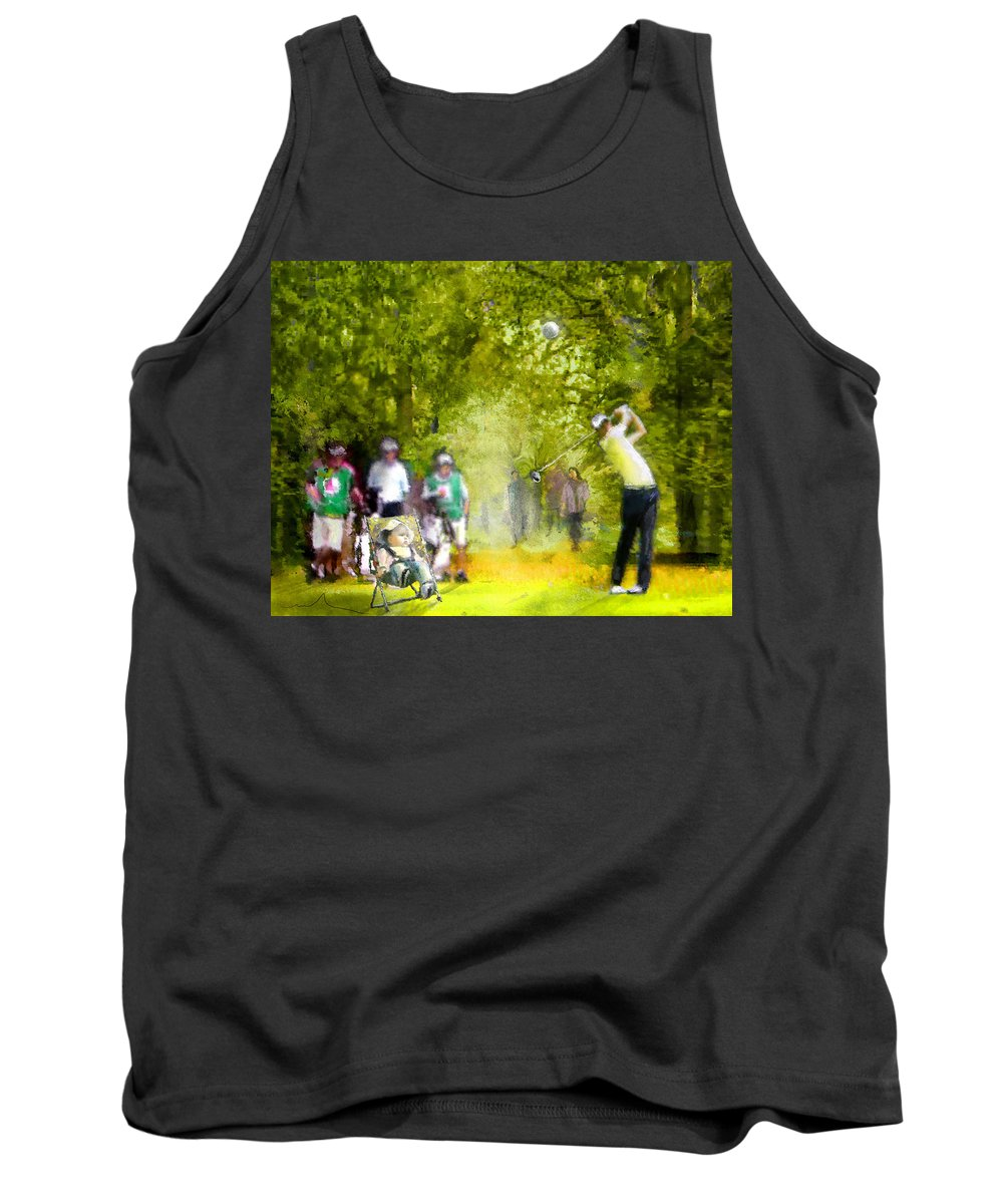 Golf Tank Top featuring the painting Golf Trophee Hassan II In Royal Golf Dar Es Salam Morocco 03 by Miki De Goodaboom