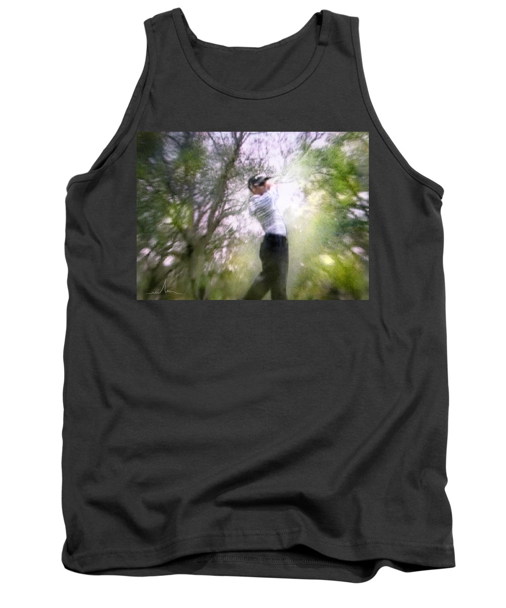 Golf Tank Top featuring the painting Golf Trophee Hassan II In Royal Golf Dar Es Salam Morocco 05 by Miki De Goodaboom