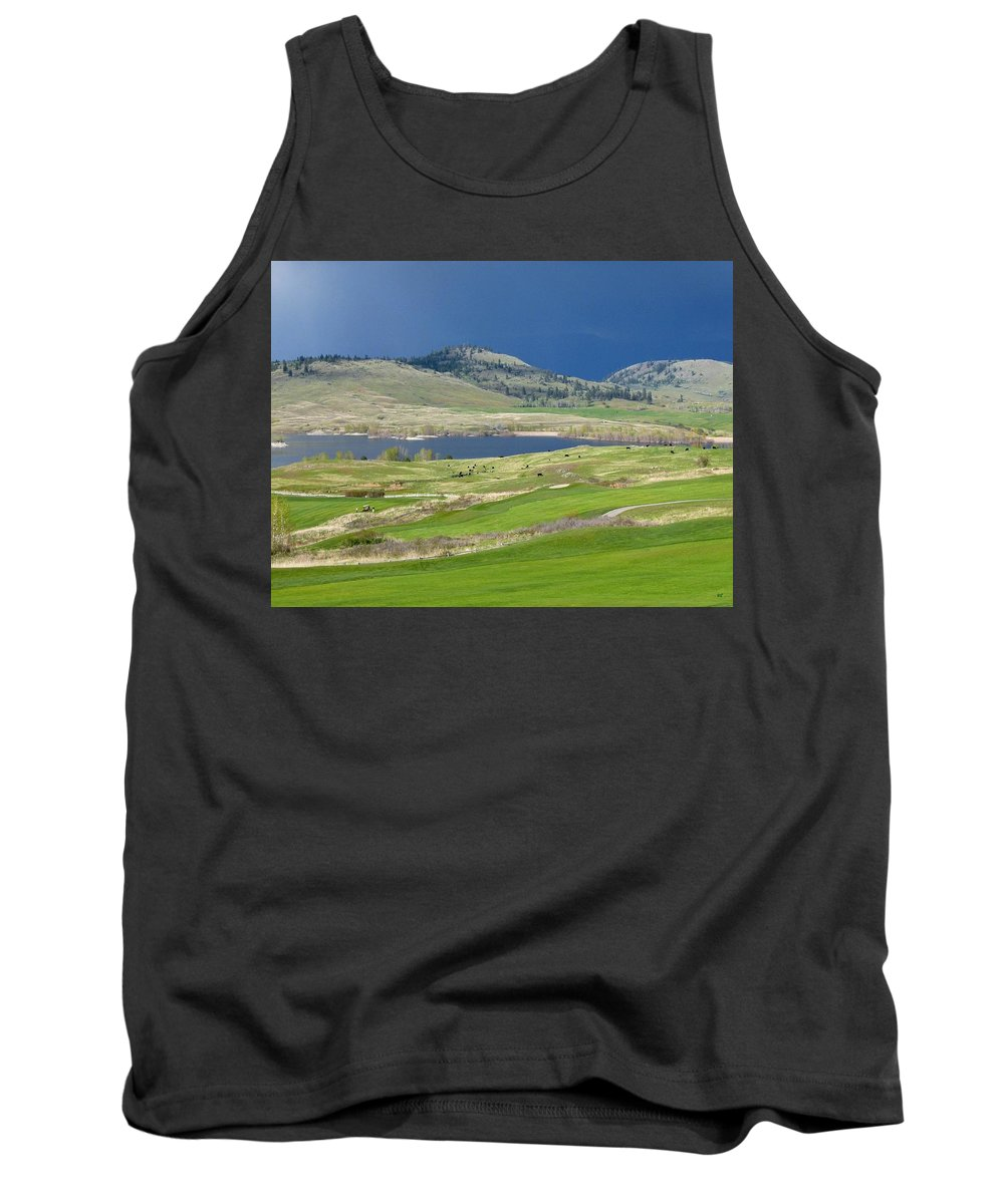 Golfing Tank Top featuring the photograph Golfing And Grazing by Will Borden