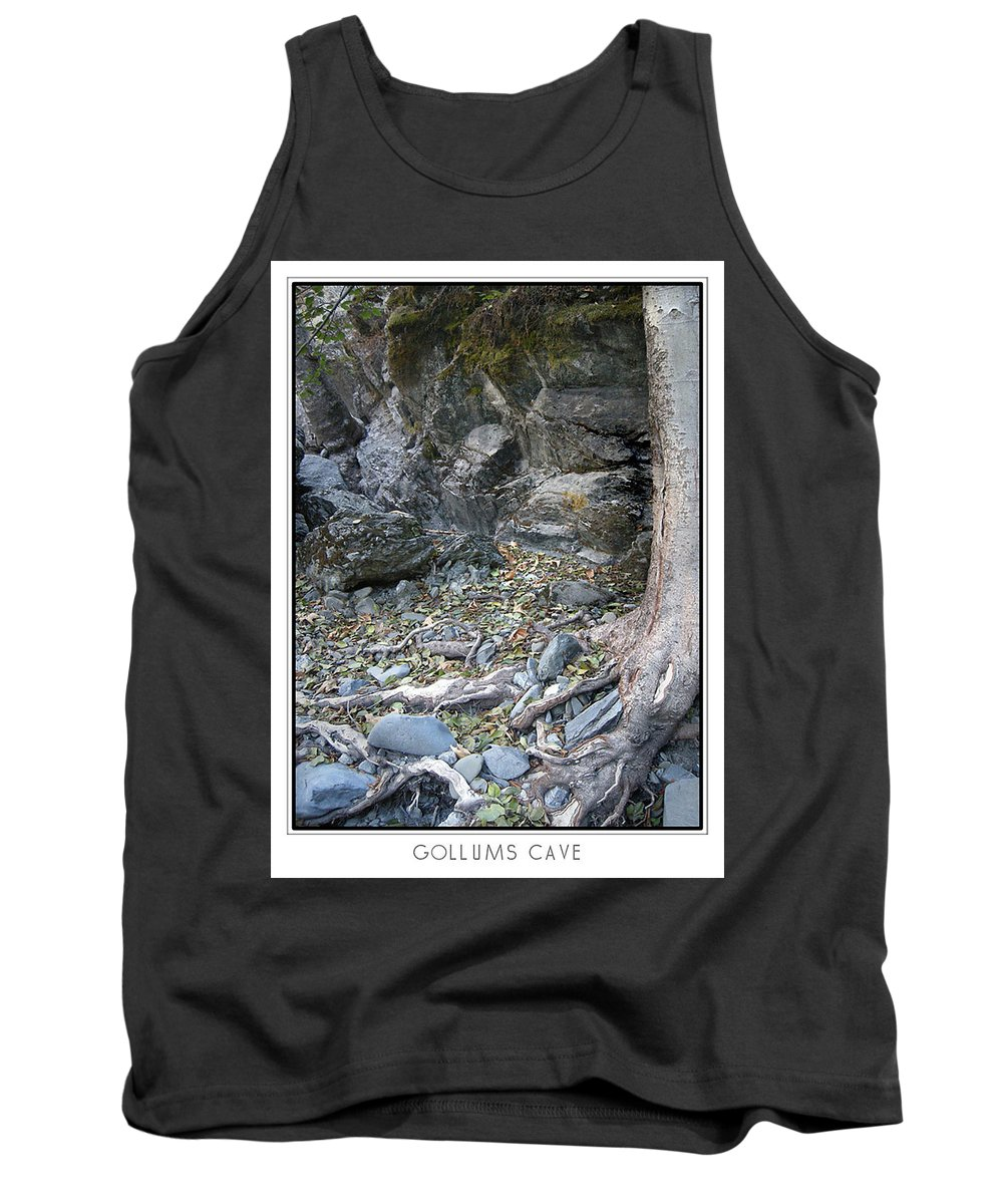 Trees Tank Top featuring the photograph Gollum's Cave by Karen W Meyer
