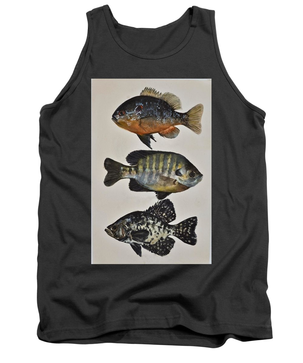 Fish Tank Top featuring the painting Gone Fishing by Kiley Nyenhuis