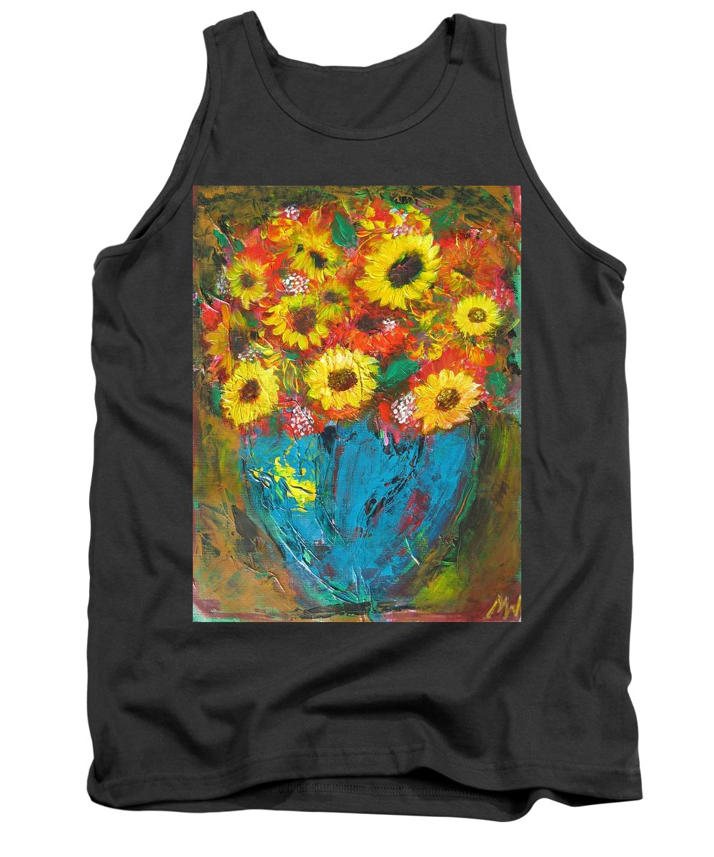 Acrylic Tank Top featuring the painting Good Morning Sunshine by Maria Watt
