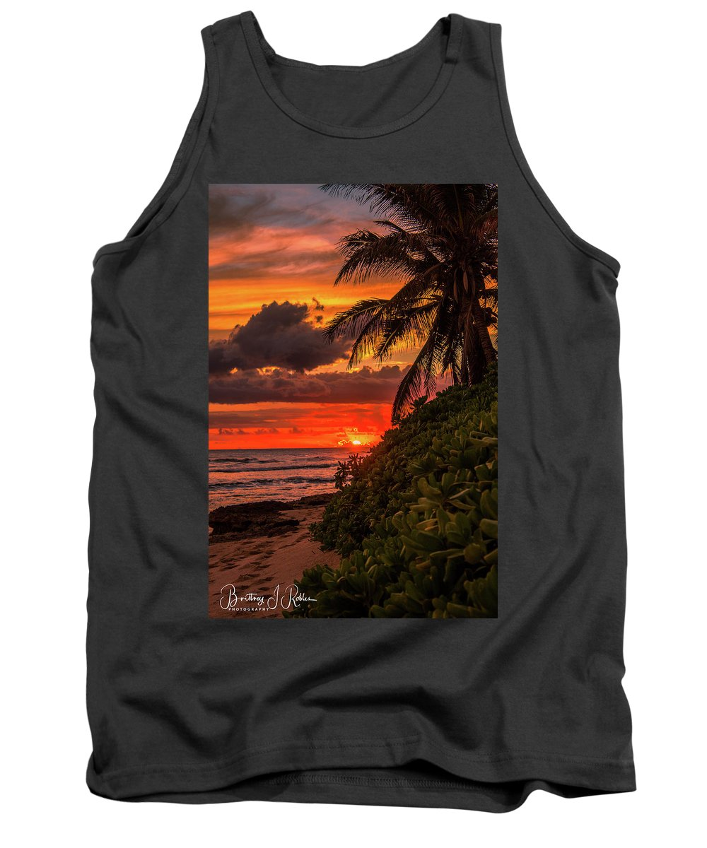 Tank Top featuring the photograph Good Night Hawaii by Brittney Robles