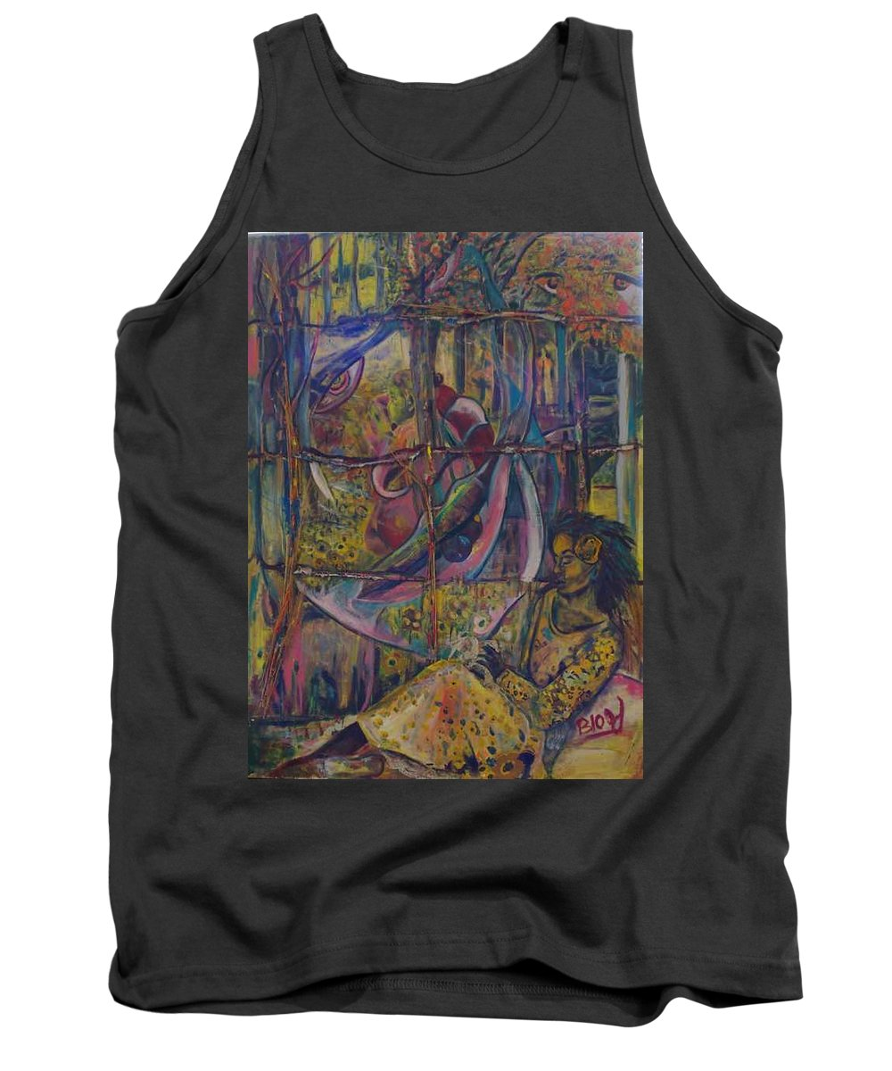 Mother Tank Top featuring the painting Goodbye Sweet Dreams by Peggy Blood