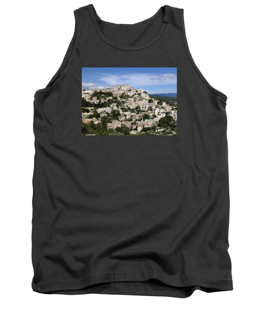 France Tank Top featuring the photograph Gordes Provence France by Alan Toepfer